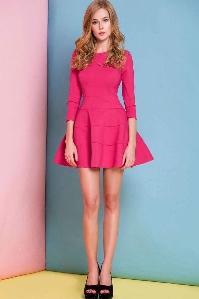 Pink skater dress under $30