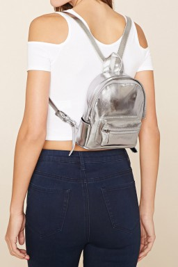 49b85eed4a Faux Leather Mini Backpack